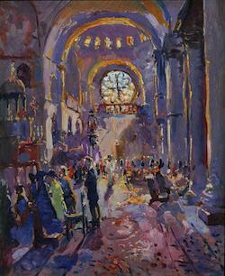 Le Mayeur - Interior de San Marco, Venice, ca. 1919