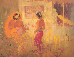 Adrien Jean Le Mayeur de Mèrprès - Two women in the garden, Sanur Bali