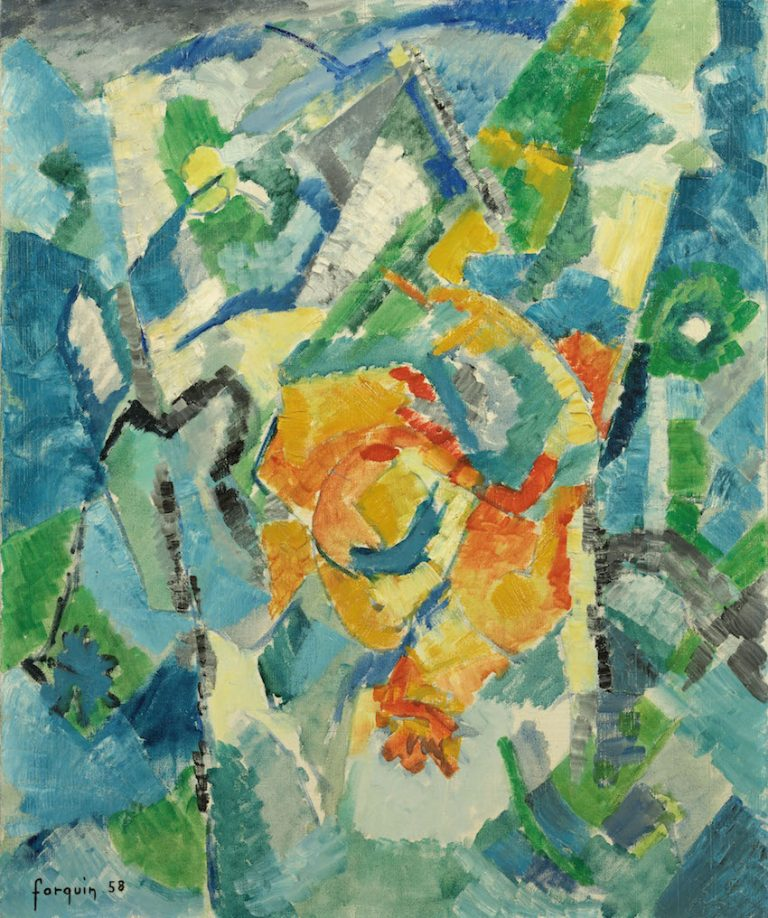 Jean Claude Forquin - Abstract Composition 1958