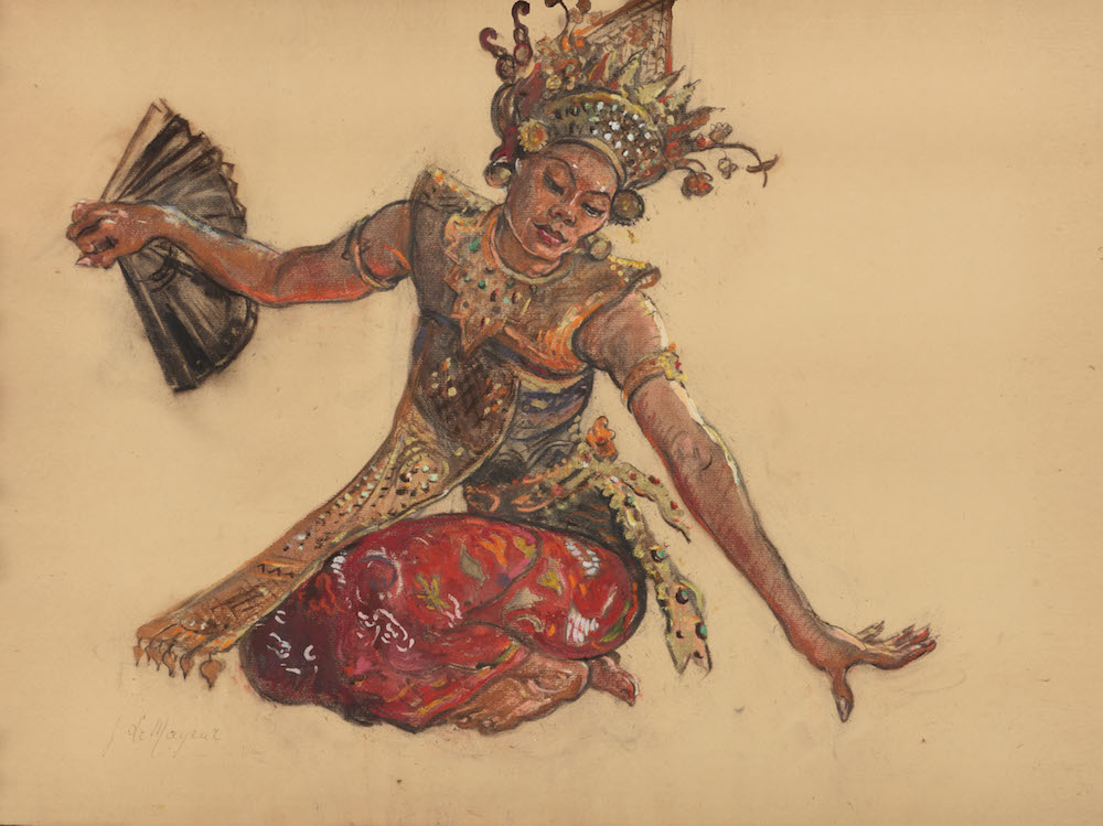 Le Mayeur - Ni Pollok dancing Garuda